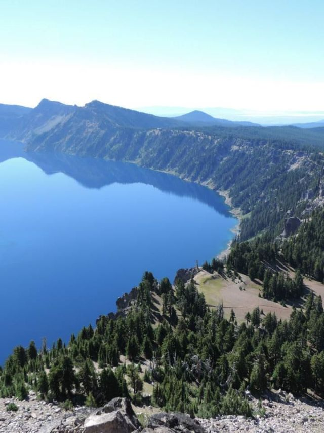 Crater Lake in Oregon - a must see for travel lovers.