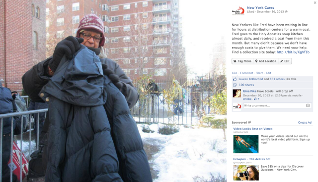 Personal stories of people who need coats always perform well, and put a face to the need.
